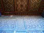 Floral Decoration Of The Wall And Ceiling.