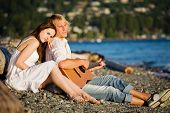 Romantic Caucasian Couple