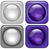Vector Glassy Icons