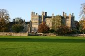picture of school building  - an old english school building in the evening sun - JPG