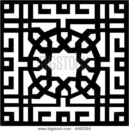 ... or Photo of Vector Arabesque and Islamic Pattern easy to recolor Easy Arabesque Art