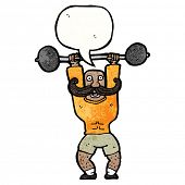 pic of strongman  - cartoon circus strongman - JPG