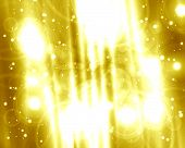 foto of gold glitter  - abstract golden background with some glitters on it - JPG