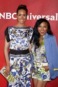 LAS VEGAS - APR 22:  Louise Roe, Jeannie Mai at the NBCUniversal Summer Pres Day 2013 at the Huntington Langham Hotel on April 22, 2013 in Pasadena, NV