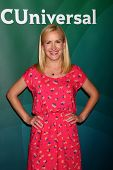 LOS ANGELES - APR 22:  Angela Kinsey at the NBCUniversal Summer Pres Day 2013 at the Huntington Lang