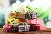 foto of cosmetic products  - Natural handmade soap - JPG