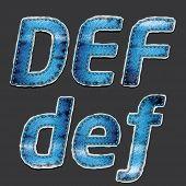 Jean Alphabet Set