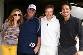 LOS ANGELES - APR 15:  Ashley jones, Brian Baumgartner, Jack Wagner, Benjamin Bratt at the Jack Wagn