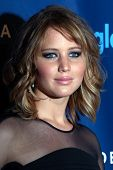 LOS ANGELES - APR 20:  Jennifer Lawrence arrives at the 2013 GLAAD Media Awards at the JW Marriott o