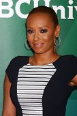 LOS ANGELES - APR 22:  Mel B, aka Melanie Brown at the NBCUniversal Summer Pres Day 2013 at the Hunt