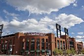ST. LOUIS - APRIL 19: Busch Stadium, home of the St.Louis Cardinals on April 19, 2013 in St. Louis, Missouri.