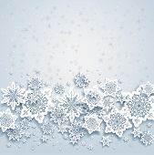 Abstract background with snowflakes. Space for your text