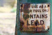 Vintage Fuel Sign