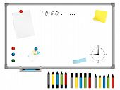 White Board With Stationery
