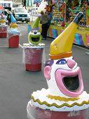 Clown Trash Cans
