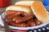Grilled Hot Dogs And Buns
