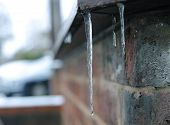 icicle on a ledge
