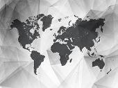 Black and White Detailed Vector World Map | EPS10 Design