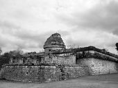 stock photo of conquistadors  - Mayan ruins of Chichen Itza in Yucatan Mexico the Observatory - JPG