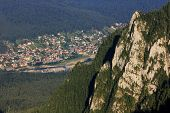 Aerial view of Prahova Valley, Romania, Europe