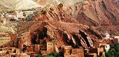 Moroccan kasbah in Atlas Mountains, Africa