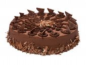 Plissado decorado Chocolate Torte - bolo