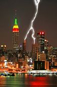 Manhattan Midtown Skyline At Night
