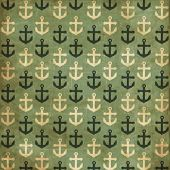 stock photo of navy anchor  - Vintage scrap nautical card with anchor - JPG
