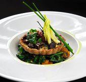 Wild Mushroom Tartlet With Vegetable Salad