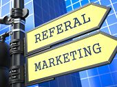 Business Concept. Referal Marketing Sign.