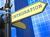 Business Concept. Integration Sign.