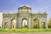 Puerta De Alcala, Madrid, Spain. Famous Spanish Landmark