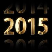 shining golden new year 2015