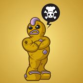 One tough cooke. Gingerbread man that takes no $#%^.