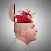 Mental health concept - Addictions.