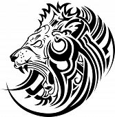 Vector image of an lion head on a white background