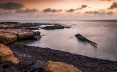 Rocky Beach At Morning
