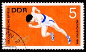 Gdr Stamp, Athletics
