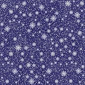 Winter white snowflakes seamless pattern  or  background.