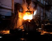Molten Hot Steel