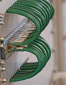 Patch Panel Cables For Connecting To Broadband Internet In A Industrial Rack