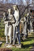 Family Mountaineers Sculpture In Zakopane