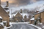Cotswold Village In Snow