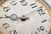 clock face, hands of the clock, macro