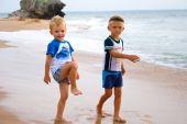 Little Boys On Seacoast.