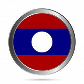 Laos Flag Button.