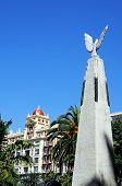 Monument in park, Malaga, Spain.