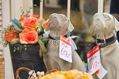 Figurines Of Dogs Are Sold  In Dordrecht, Netherlands