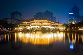 Anshun Bridge Ablaze With Lights