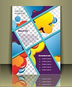 Well organized brochure print template. Layered eps file. For adding you images in this template Pla